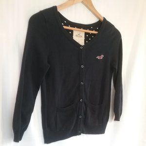 Hollister Cardigan Navy Scoop Neck | Med. | 3/$24